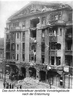 Vorwärts Gebäude after the attack on January 11th, 1919