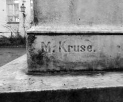 Max Kruse signature on the original sculpture.