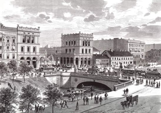 Belle-Alliance-Brücke in all its beauty some time around 1880.