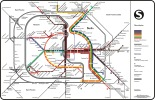 S/U-Bahn Map of Divided Berlin by Max Roberts