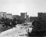 Belle-Alliance-Platz (Mehringplatz) in 1888: long before the Hochbahn and with the houses in the southern bank of Landwehrkanal where the America Memorial Library stands today.