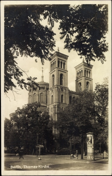 Blick auf die Thomas Kirche, Platz 1920s or 30s (1)