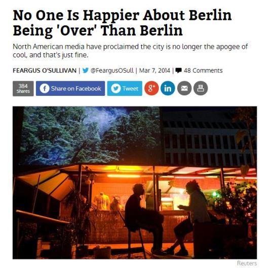 berlin is over fergus o´sullivan