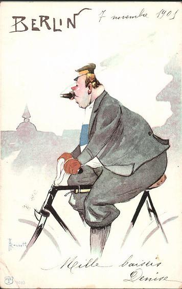 qualmtüte postcard berlin november 1901