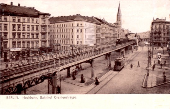 U-bahnhof Oranienstrasse (Görlitzer Bahnhof on the U1 Line today) in 1905.
