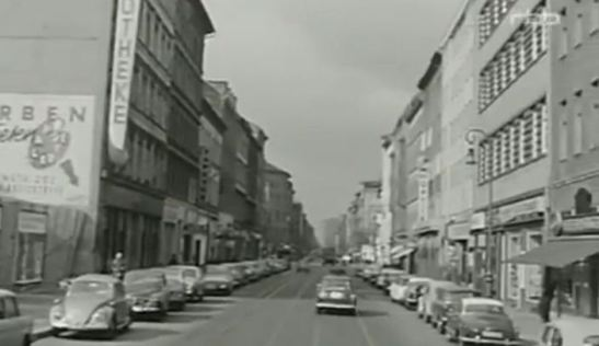 Oranienstrasse (O-Strasse) in 1966 in a historic film documentary by RBB.