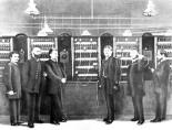 The first Siemens & Halske telephone exchange in Berlin, 1881.