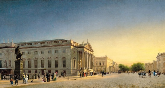 Opernhaus Berlin by Eduard Gaertner (painted round 1830).