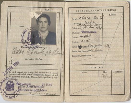 hilda thorak´s passport inisde hop huesken