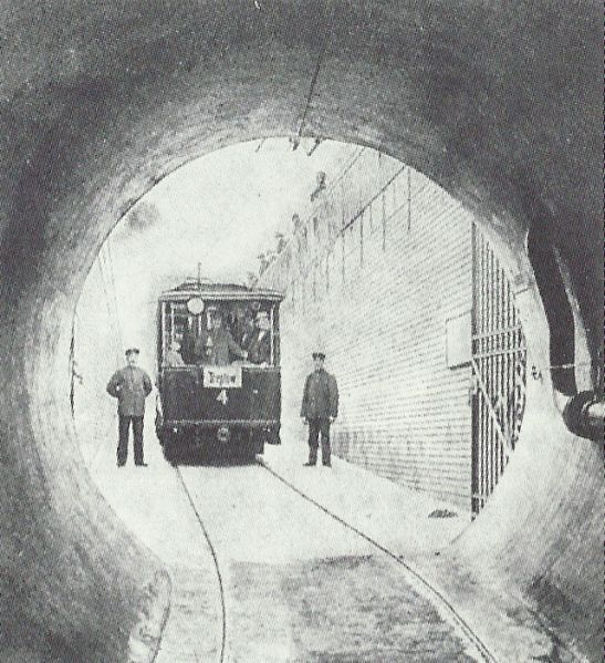 Inside the tunnel.