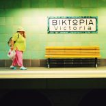 The elegant, Berlin-made enamel name plates of Victoria Station in Athens (image by vispalberlin)