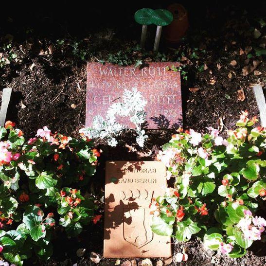 walter rütt´s grave in steglitz