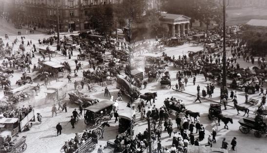 Am Potsdamer Platz um 1923