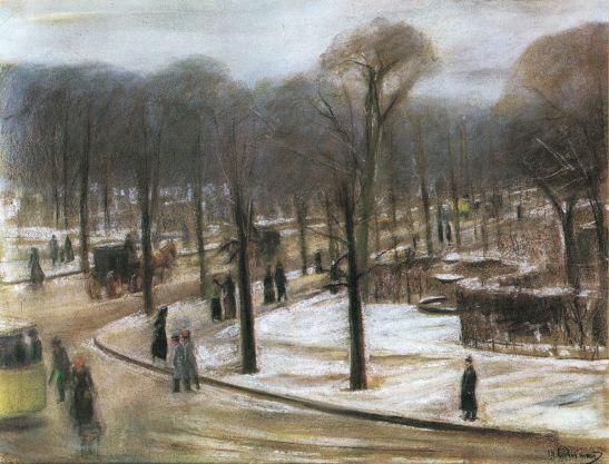 max liebermann 1899 1900 view from his ateier into tiergaten