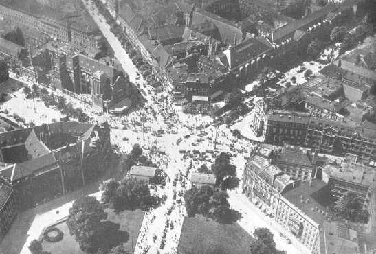 Potsdamer Platz mit den Schinkeltorbauten zum Leipziger Platz, Luftbild