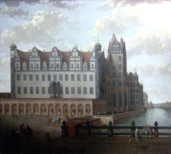 Stadtschloss around 1685 (author unknown, the original at Märkisches Museum today)