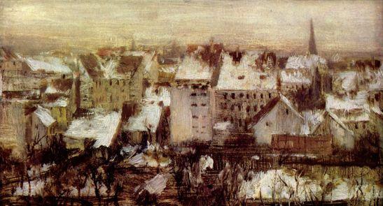 adolf menzel 1847 berline rhinterhäuser im schnee most likely ritter strasse