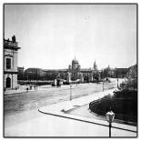 Schloßbrücke und Lustgarten, vom Kronprinzenpalais aus gesehen. Im Hintergrund der Alte Dom ukn 1889,  Plansammlung der TU