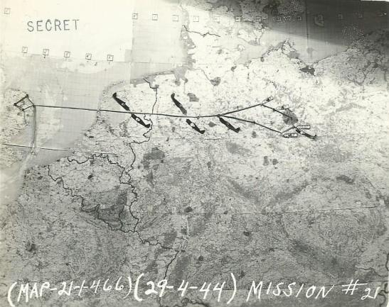 map fo the 29.04.44 air-raid on berlin american museum of
