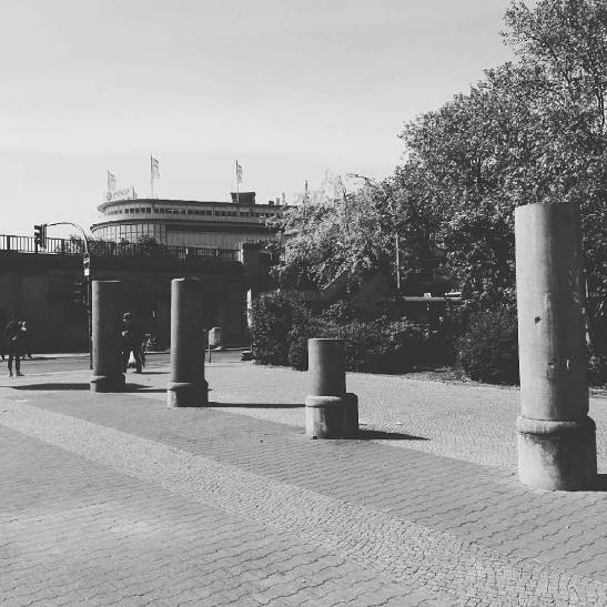 Columns at Hallesches Tor today (image by notmsparker)