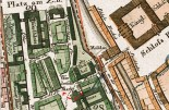 Berlin´s centre and the location of the old Reithaus on the 1811 map of the city.