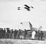 frey flying above caters voisin plane 345 johannisthal may 1910
