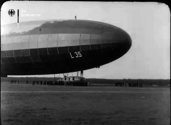 The front of the L35 zeppelin (image through Bundesarchiv )