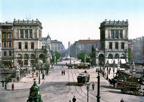 Belle-Alliance-Platz, Postkarte, um 1895