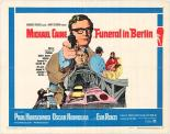"Original poster for the 1966 ""Funeral in Berlin""."
