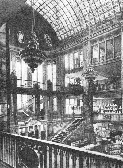 Inside the main hall of the Tietz Department Store in Leipziger Straße 46-49.