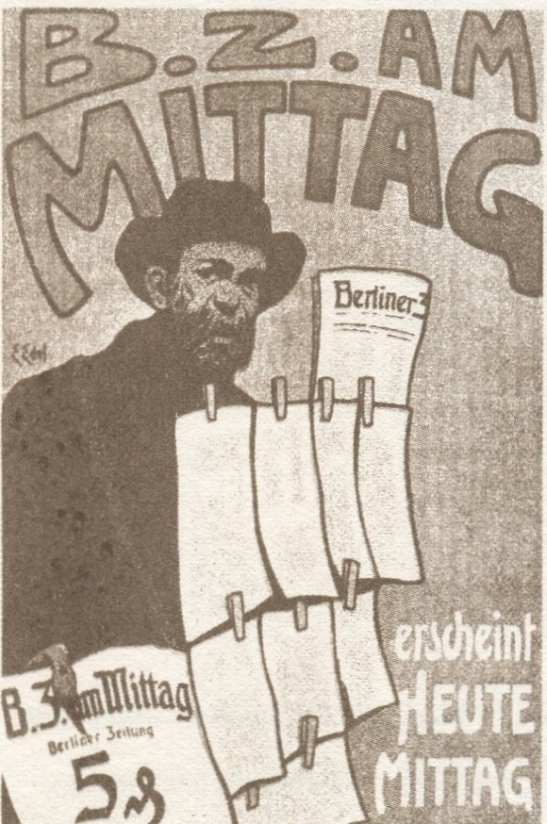 Edmund Edel´s 1904 poster for the BZ am Mittag.