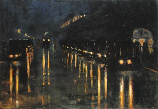 Lesser Ury, Bülowstraße am Hochbahn (1922)