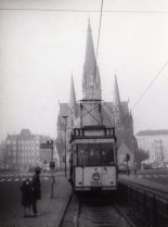 Tram No. 3 travelling along Hasenheide east of Südstern (photo through drehscheibe-online.de, nordbahn-micha)