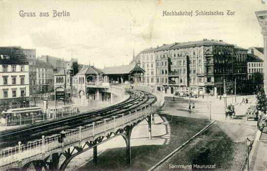 "Bhf ""Schlesisches Tor"" around 1905 (image from the collection of Mr A. Mauruszat, at u-bahn-archiv.de)"