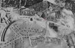 Zentralflughafen Tempelhof (with the old airport in ruins) on a Google Earth image, 1943.