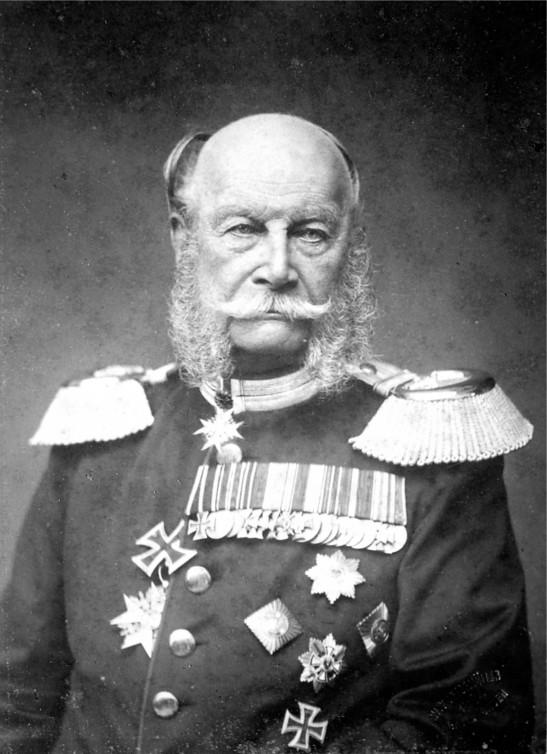 Wilhelm I. auf einem Porträt des Hoffotografen Wilhelm Kuntzemüller (1884)
