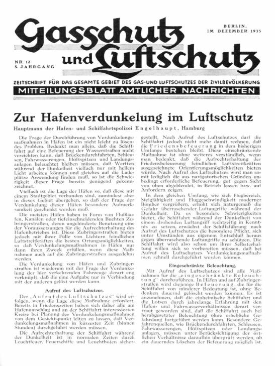 gasschutz luftschutz blatt berlin 1935